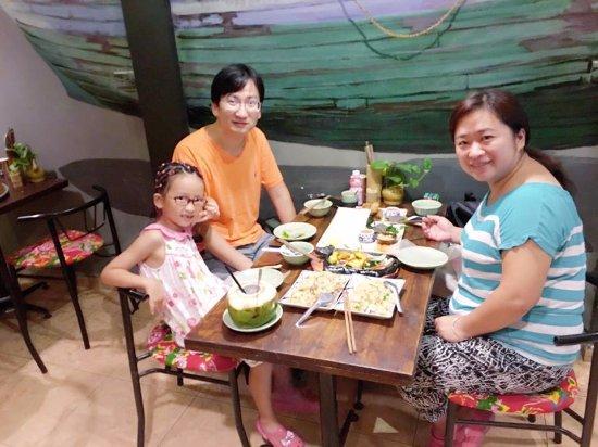 Enjoy local food in Viet Nam.
