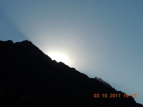 Sangla, Indie: pic taken from terrace of the hotel