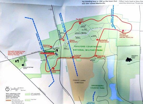 Greensboro, Carolina del Norte: Park map