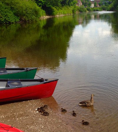 Ironbridge, UK: Great days out with Shropshire raft tours with canoe and raft hire on full day Atcham to Ironbri