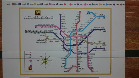 Tehran Subway Map.Tehran Metro Map September 2017 Picture Of Tehran Metro