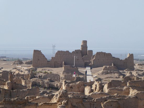 Turpan, China: Buddhist temple at the end