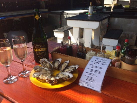 Oysters R Us: We decided on Champagne with our oysters - Because: Why not! Oysters and Champagne is the way to