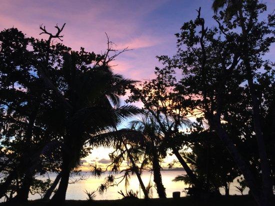 Beqa Island, Fiji: Einer der bunten Sonnenuntergänge