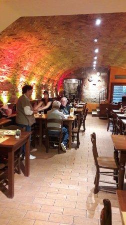 Montagnana, Italia: saletta murata molto caratteristica