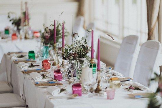 Gougane Barra Hotel A Wedding Table Set Up