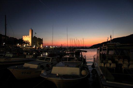 Sunset in Komiza, Vis, Croatia
