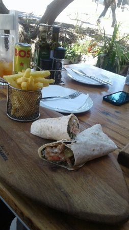 Fish wrap and chips