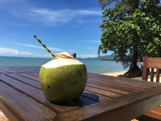 ‪‪Lipa Noi‬, تايلاند: Fresh coconut water every day, and with an incredible view too!!!‬