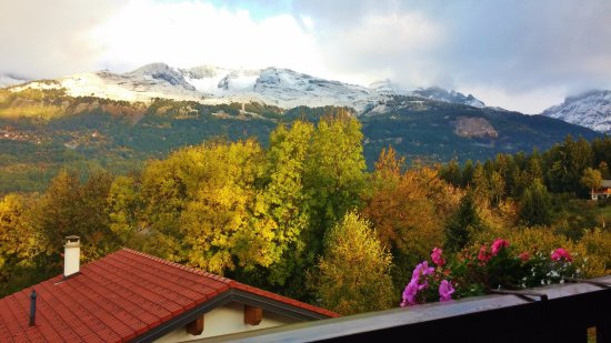 Chalet des Alpes : View from room, off balcony in October