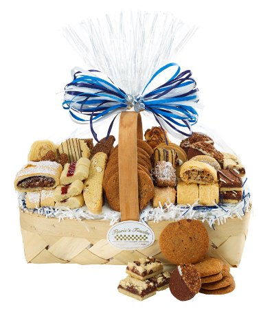 Nesconset, NY: 3 lb All occasions pastry & cookie gift basket. Many sizes available at www.floriesfinales.com