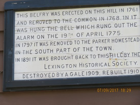 Lexington, MA: Call to arms
