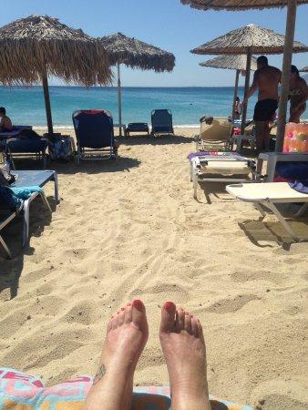 Agios Prokopios, Grekland: View from my sunbed on the beach!