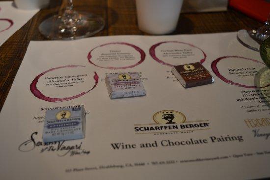 Healdsburg, CA: Chocolate tasting