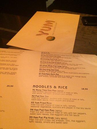 Menu Picture Of Yum Thai Kitchen Bar Munich Tripadvisor