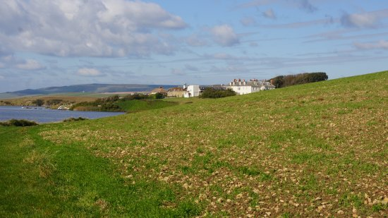 Moonfleet Manor Hotel: Coastal Path approaching from east.