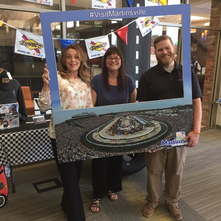 Martinsville-Henry County Visitor Center: Race Weekend Photo Op!