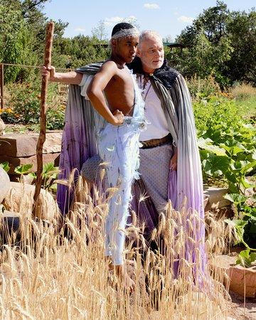 612b1f2b24c Santa Fe Botanical Garden  Shakespeare in the Garden performance rehearsal  (The Tempest 2017)