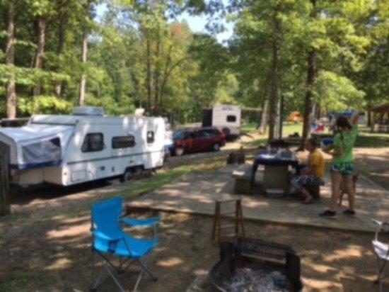 Pickett CCC Memorial State Park: Campsite