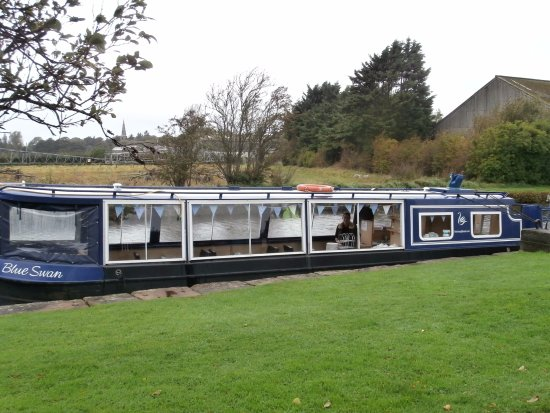 Burscough, UK: The blue swan tour boat