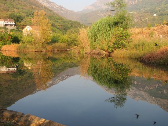 Morinj, Montenegro: panorama dalla piazzola camper