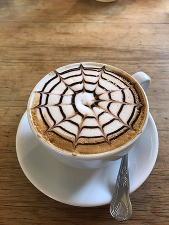 Gisburn, UK: Spooky coffee for Halloween