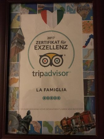 Auszeichnung für das fantastische italienische Restaurant in Quickborn