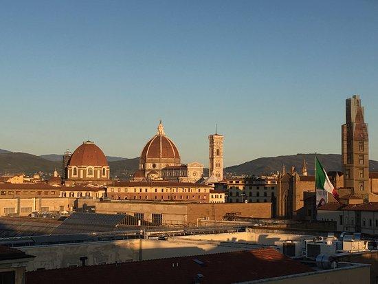 Delle Nazioni Hotel : Evening view from balcony