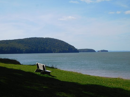 Five Islands, Canadá: Bench with a view