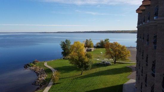 Bemidji, MN: View of lake from balcony