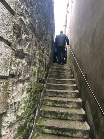 Youghal, Ireland: The steps to the entrance to the Clock Tower