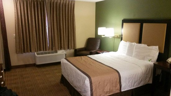 comfortable full size bed picture of extended stay america