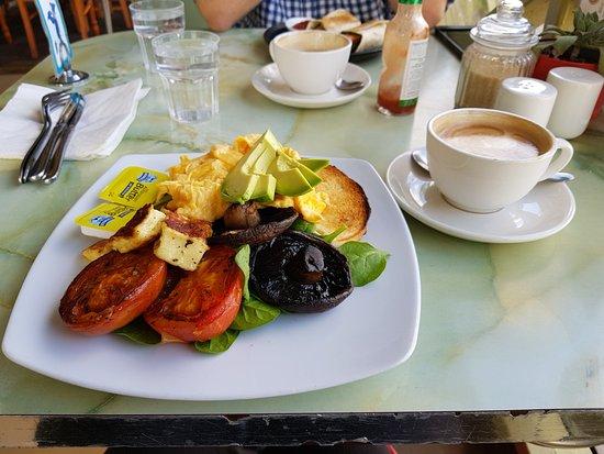 Blue Ginger Fine Foods: Big Vegetarian Breakfast