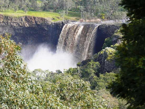 Wannon Falls after rain. Look towards the top right of the photo to see the viewing platform.