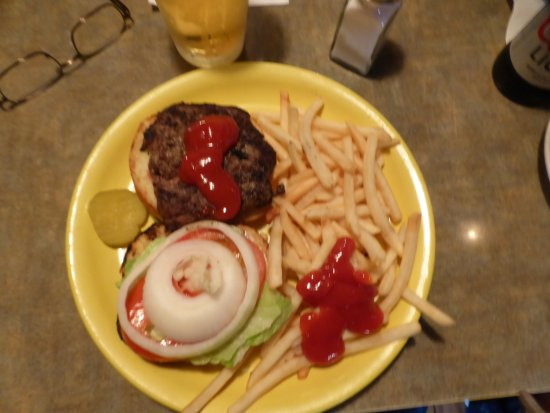 Prescott, WI: California burger and fries - very good