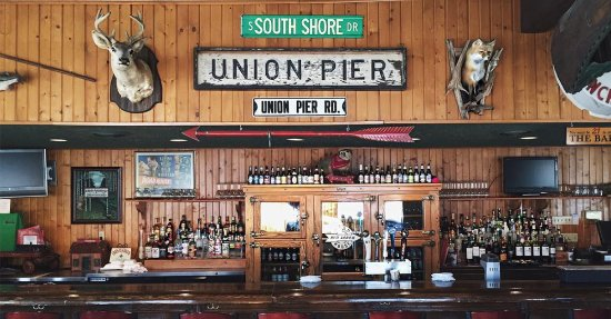 Union Pier, MI: The bar of the Red Arrow Roadhouse