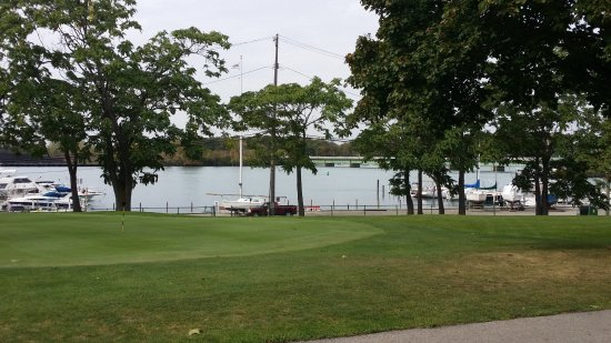 Grosse Ile, MI: View from the patio.