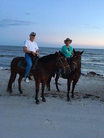 Port Saint Joe, FL: My husband and myself as a portion of our group.