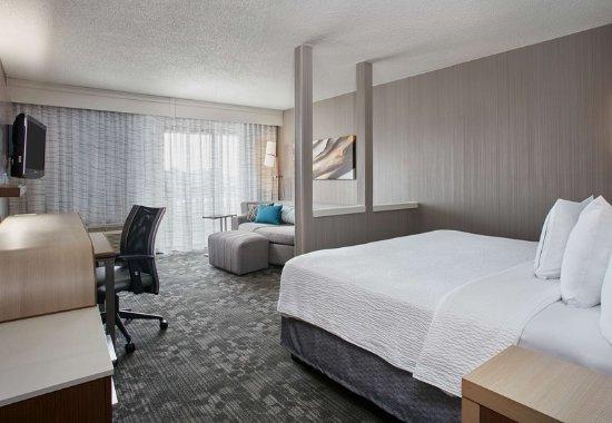 Pontiac, MI: King Larger Guest Room - Sleeping Area