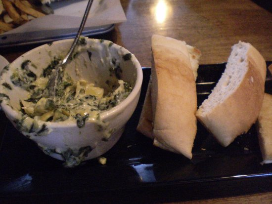 Marinette, WI: artichoke dip with garlic toast