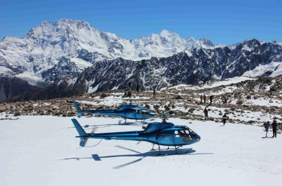 Helicopter Flight with Snow Landing