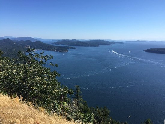 Galiano Island, Canada: View from atop Mt. Galiano