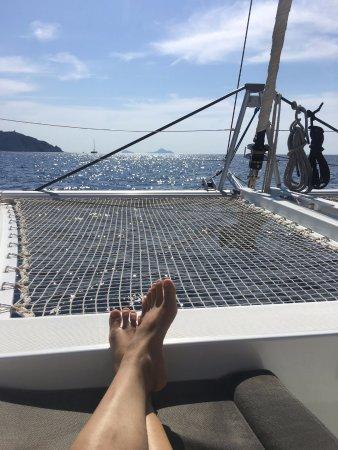 Santorini Sailing Center : relaxing on the Margarita