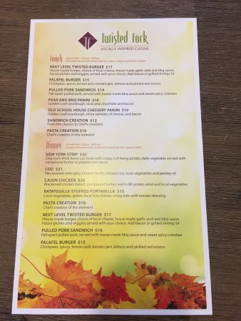 St. Paul, Канада: Our Fall Menu
