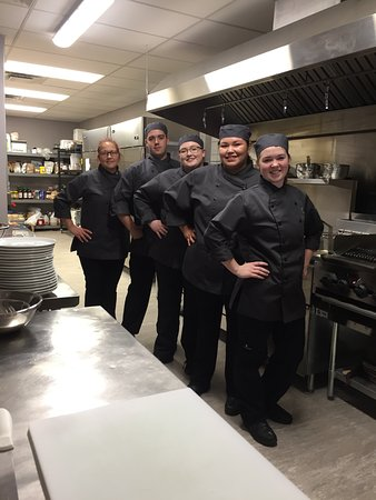St. Paul, Канада: Some of the staff here at Twisted Fork - proud to cook your dishes!