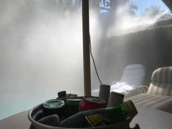 Misting system overload  - Picture of The Mirage Hotel