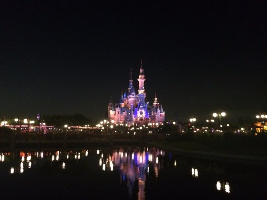 Shanghai, China: The Disney castle by night