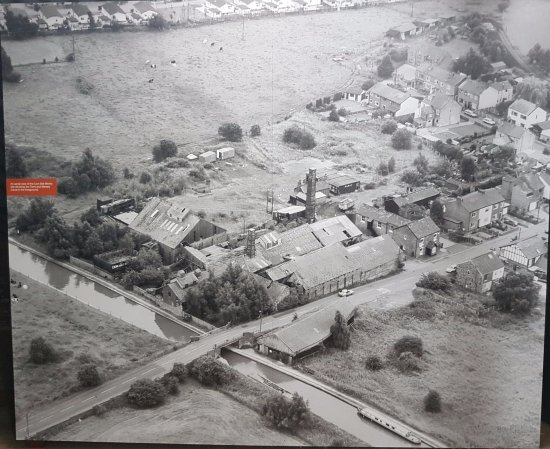 Northwich, UK: Aerial view of the works