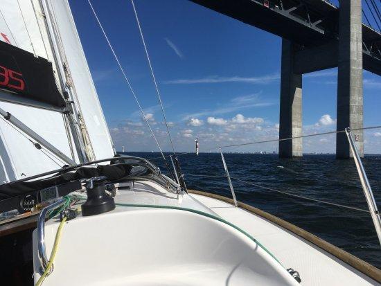 Puente de Oresund: aus Richtung Süden, fast durch...