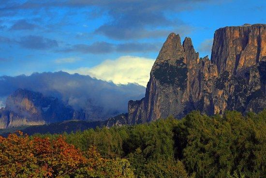 Collalbo, Italia: Blick vom Balkon auf den Schlern